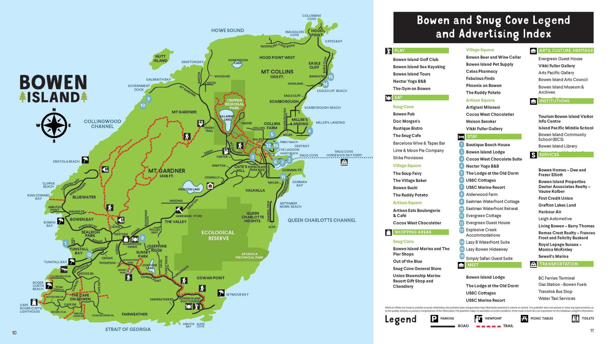 Bowen Island British Columbia Map