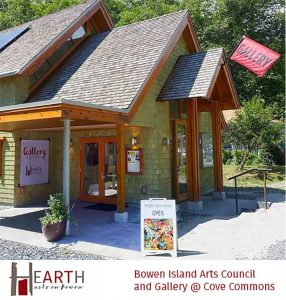 The Gallery @ Cove Commons is operated by The Hearth (Bowen Island Arts Council)