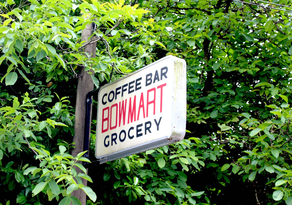 Bowen Island Bowmart sign