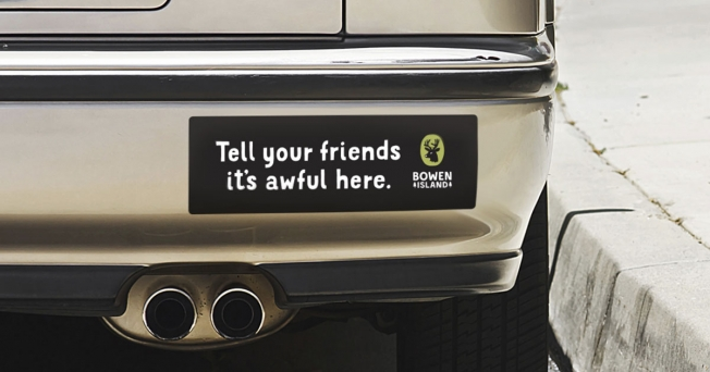 Bowen Island bumper sticker