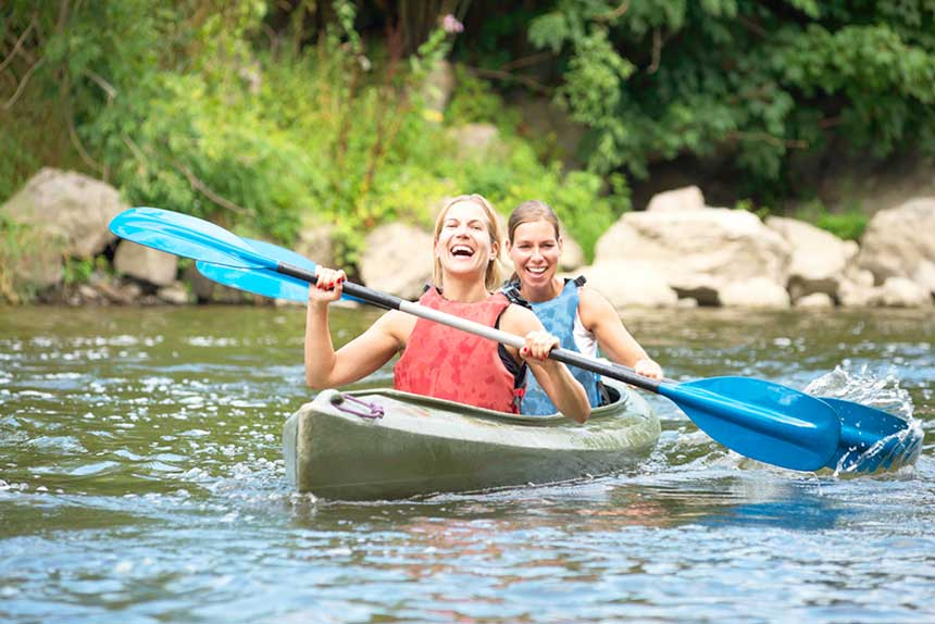 Expedia Article - Top Small Towns to Visit for a Canada Day Getaway -  Bowen Island kayaking photo