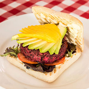 The Snug Cafe beet burger