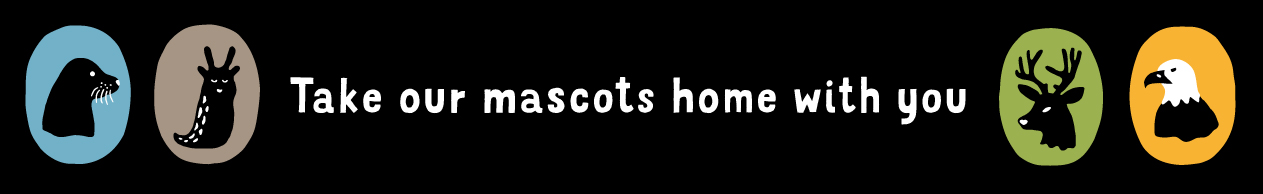 Take our mascots home with you